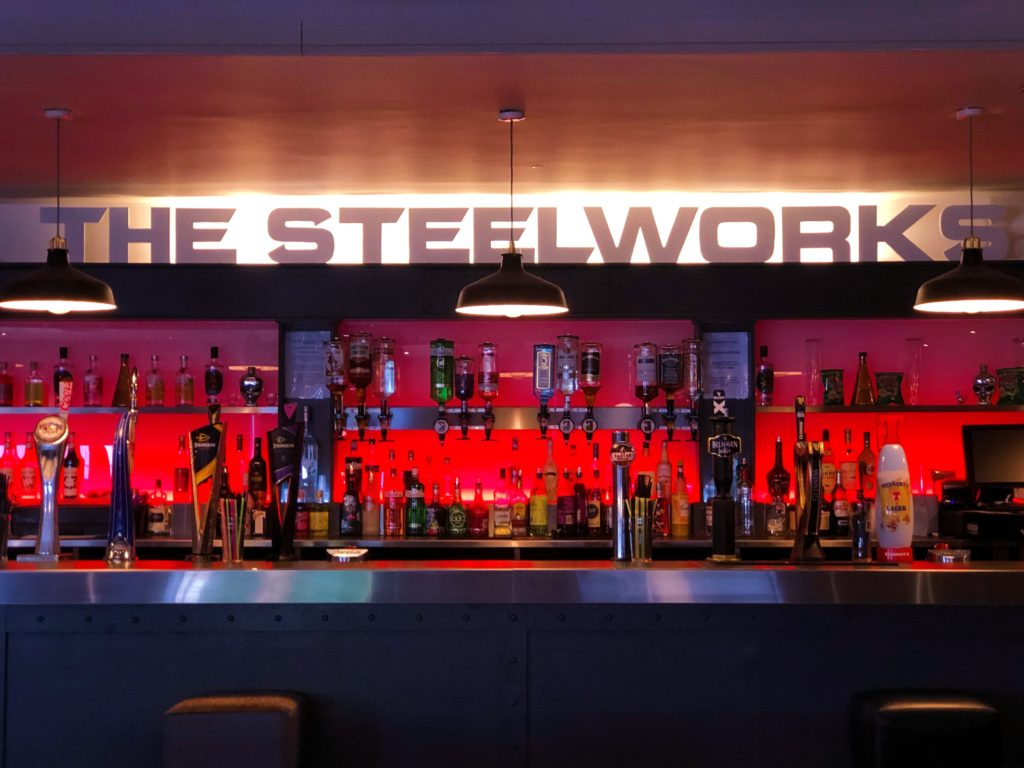 sports bar at the steelworks bar and grill motherwell