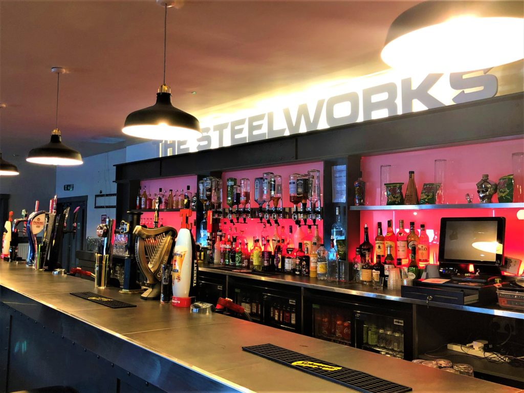 sports bar at the steel works bar and grill motherwell
