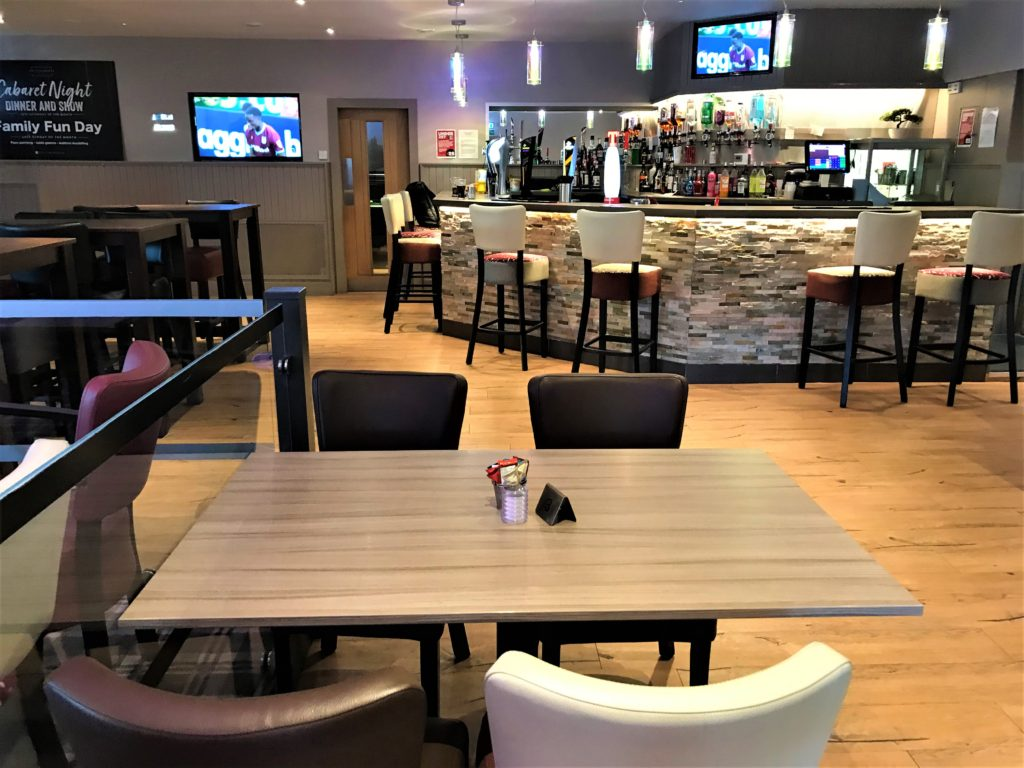 lounge bar and dining tables at the steelworks bar and grill motherwell