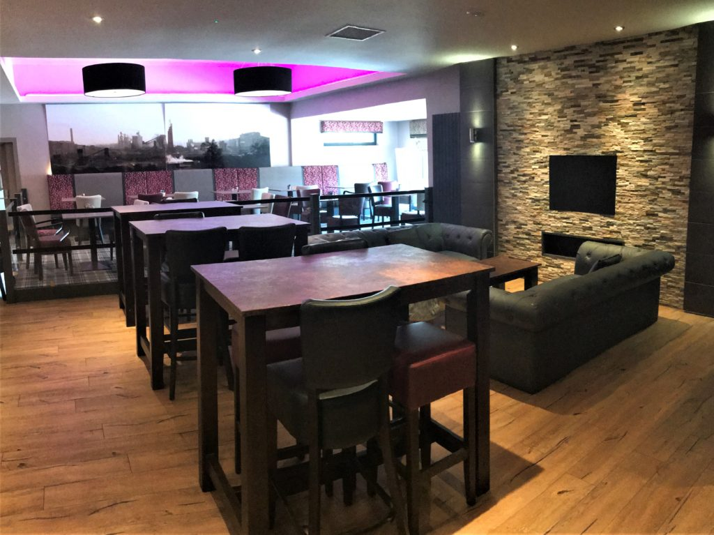 dining room seating area and function room space at the steelworks bar and grill motherwell
