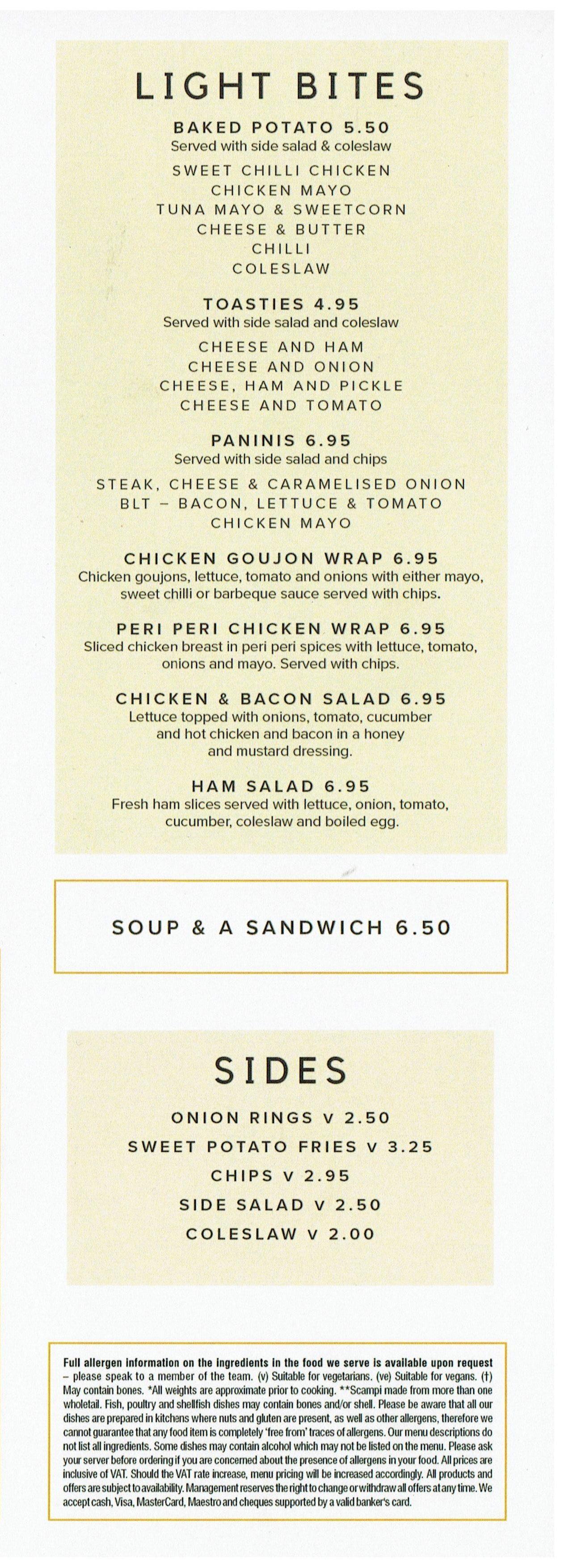 main pub food menu steelworks bar and grill motherwell
