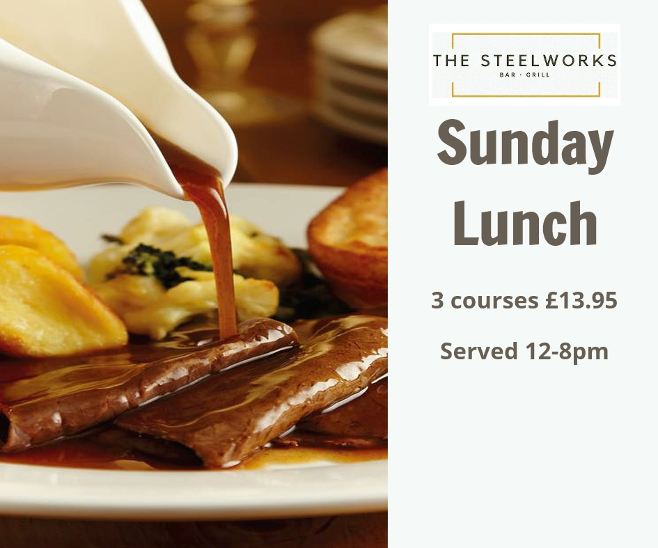 steelworks bar and grill sunday lunch in motherwell